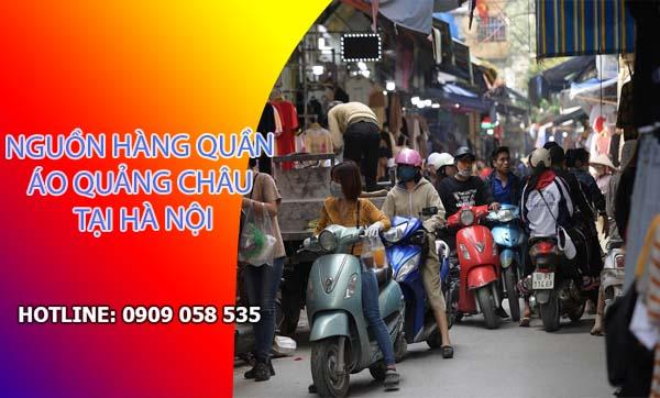 Lấy quần áo Quảng Châu tại chợ Ninh Hiệp