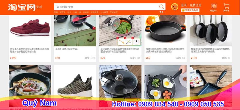 Taobao là web order hàng Quảng Châu uy tín