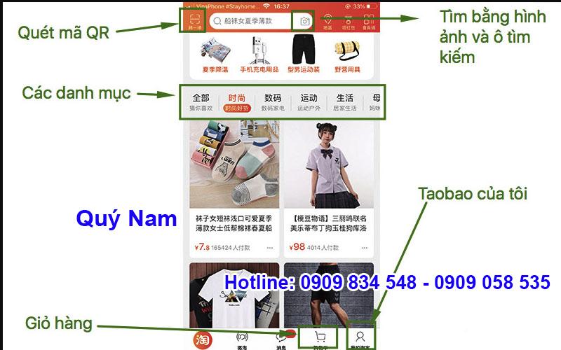 Việc mua hàng Taobao qua app đơn giản với 4 bước