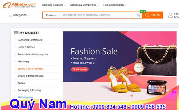 Alibaba là một trong các chuyên trang thương mại điện tử lý tưởng để mua sắm hàng nội địa