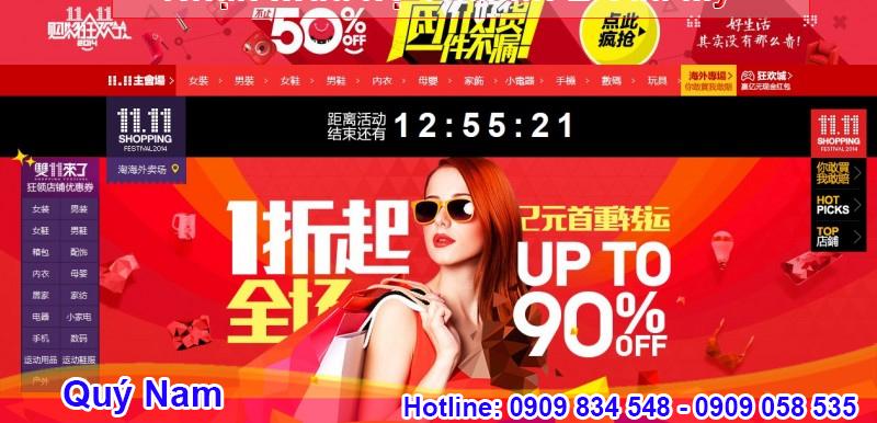 11/11 là ngày lễ độc thân và cũng là ngày sale mạnh của các trang bán hàng Trung Quốc