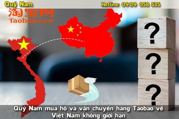 Quý Nam mua hộ và vận chuyển hàng Taobao về Việt Nam không giới hạn