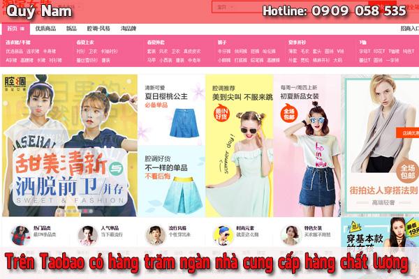 Trên Taobao có hàng trăm ngàn nhà cung cấp hàng chất lượng