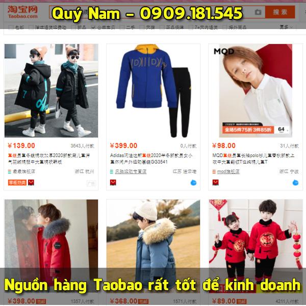 Nguồn hàng Taobao rất tốt để kinh doanh