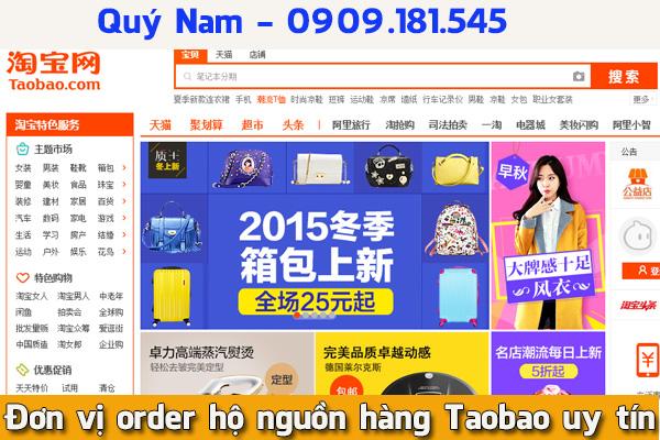 Đơn vị order hộ nguồn hàng Taobao uy tín