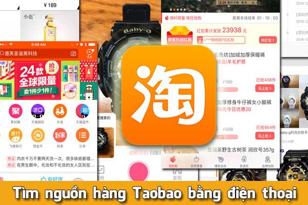Tìm nguồn hàng Taobao bằng điện thoại